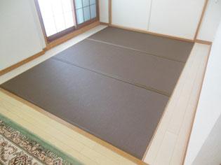 日野市 マンションの畳替え おしゃれなカラ―畳