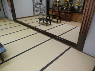 お寺の畳を表替えする前の様子