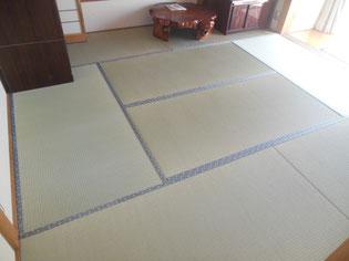 国産の特上畳おもて 丈夫で美しいツヤが出てきます!雅なあめ色になる所も人気です