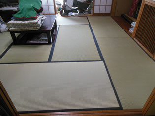 国産の高級イグサの畳  使い込むうちに雅なツヤが出る畳 地が厚く丈夫な畳おもて