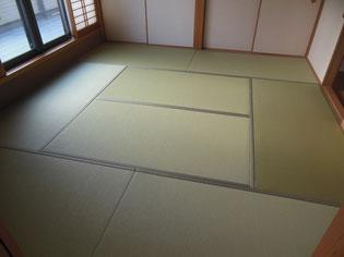 和紙(機械漉き)で織った畳おもてダイケン清流の当店の施工実績