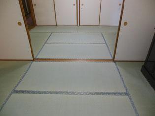 6帖の2間つづきの間の美しい畳仕上げ