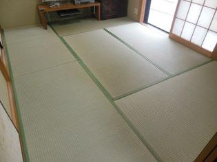 床から新しく 「新畳」 「中」の畳おもて