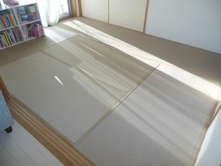 樹脂素材の畳 セキスイ美草モカベージュ(目積織り)