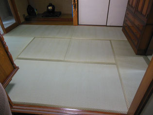 国産畳おもて「上」 市松柄の畳おもて