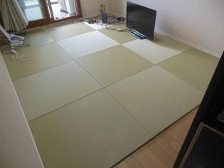フローリング畳 置き畳 ごろ寝が出来るように畳をフローリングに敷く