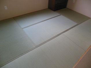 畳表替え/施工例/畳床の厚さは25ミリという薄い畳も表替えできます