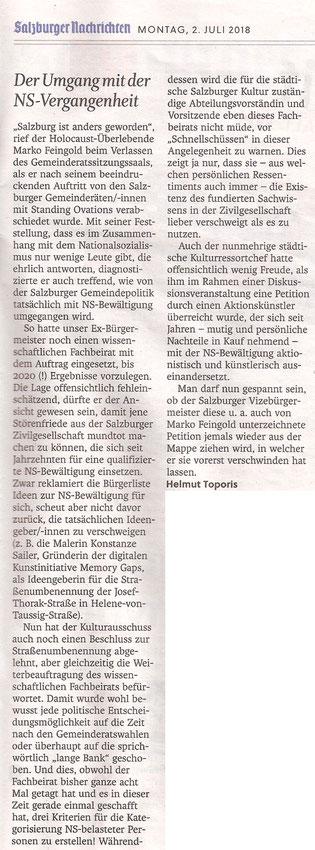 Salzburger Nachrichten, Community, 02. Juli 2018
