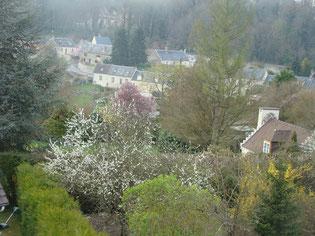 vue du village du gite de Buzancy, les Moineaux
