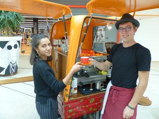 Das Faire Café Mobil des Eine Welt Ladens Neumarkt ist auch wieder während der Fairen Woche 2018 im Einsatz, Foto: Ralf Mützel