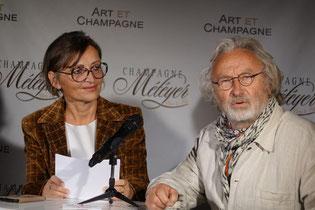 De gauche à droite : Anna Météyer et Emmanuel Fandre. Le masque a été retiré le temps de la photo.