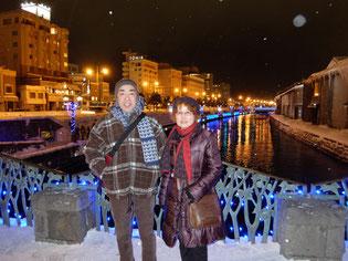 小樽運河がライトアップされ幻想的でした!