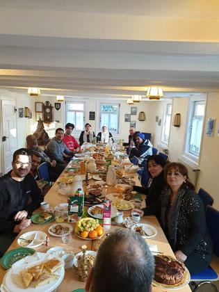 Weihnachtsfeier 2010 des Deutschkurs im Heimathaus Achenbach