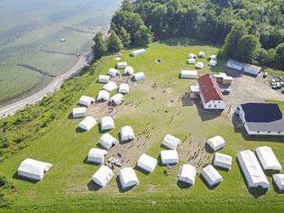 In diesem Jahr deutlich kleiner: Das Zeltlager Lille Bodskov in Dänemark. Foto: Landkreis Stade