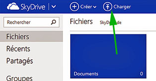 Charger des photos sur Skydrive