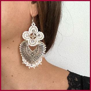 orecchini chandbali indossati