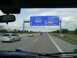 Kurz vor München - läuft!