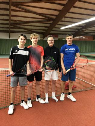 v.l.: Bent Obermann, Tobias Reck, Lennart Haas, Julian Müller