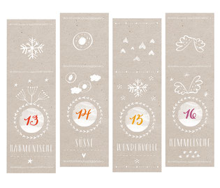 Adventskalenderzahlen Adventskalender countdown