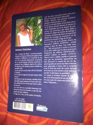 Photo de la 4ème de couverture du livre Les larmes de l'âme de Christine Arnoux paru aux Éditions Pixygraph'