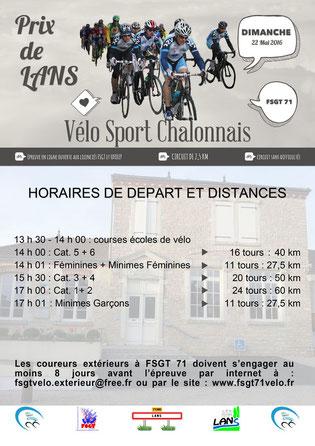 Prix cycliste de Lans