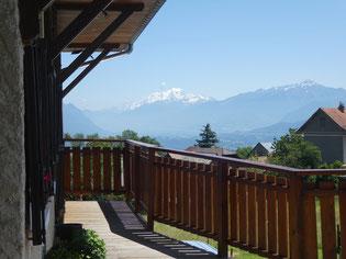 Vue sur le massif du Mont Blanc depuis l'Hotel