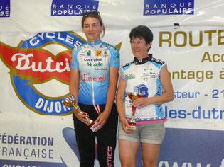 Odette Picard du Vélo Club Chalonnais