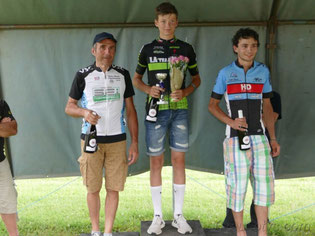 Patrick Geoffroy sur le podium