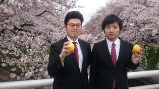 左が松本。右が遠藤。