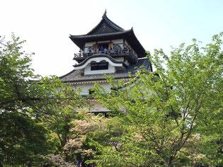 犬山城の天守閣。現存する最古の木造天守閣であり、国宝です。