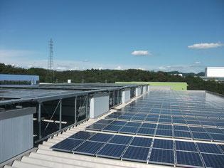 弊社春日井工場の太陽光発電装置
