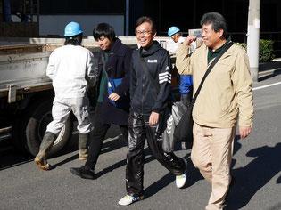 左から遠藤、太田、小林(秋元運輸倉庫)。