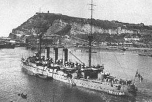 Visita dels vaixells de guerra Yakumo i Izumo a l'octubre de 1926
