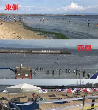 須磨海水浴場・・・東も西も無法地帯 💦