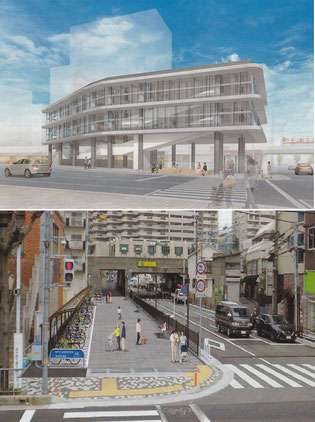 上→垂水駅西側ロータリー立体原付駐輪場 下→商大線自転車駐輪場
