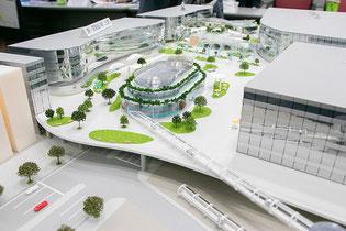「国道15号・品川駅西口駅前広場整備事業計画」の模型(第1回検討会)