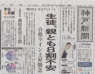 神戸新聞 1面より