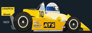 Keke Rosberg by Muneta & Cerracín - ATS D1 - Ford Cosworth V8