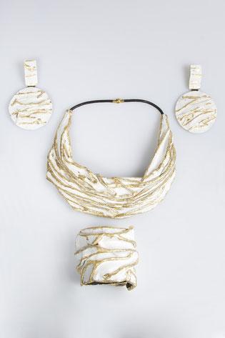 MATERIAL.CL.0020 Bianco/Oro-MAGMA.BR.0041 Bianco/Oro- JAPPO.OR.0012  Bianco/Oro