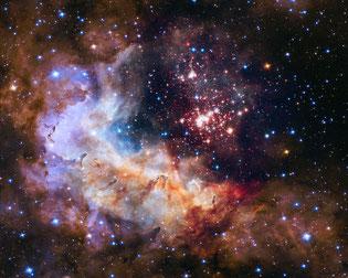 Eine typischer Hubble-Teleskop-Hintergrund