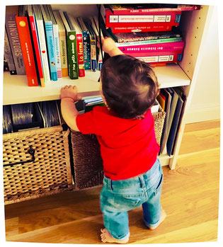 baby, book, bookcase, lifestylette