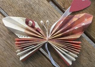 Geldgeschenk Mit Schmetterlingen Mit Spass Selbstgemacht