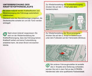 Quelle: Citroën Bedienungsanleitung