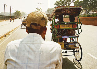 mit der Rikscha durch Old-Delhi
