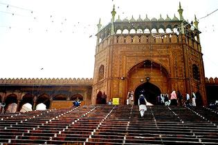 die Freitags-Moschee in Delhi