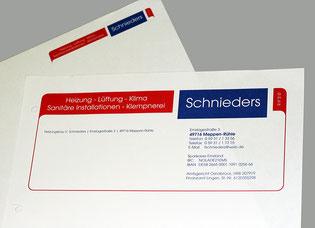 Briefbogen, Erst- und Zweitblatt