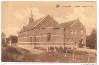 Carte postale de la chapelle de Profondsart1931