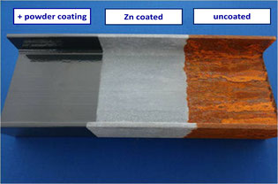 Recoatable, active, water-based zinc primer for lacquers and powder coatings - The alternative to hot galvanising