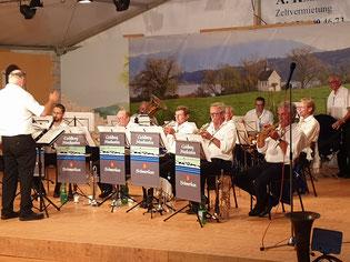 Goldbergmusikanten auf der Sommerbühne Badi Schmerkä
