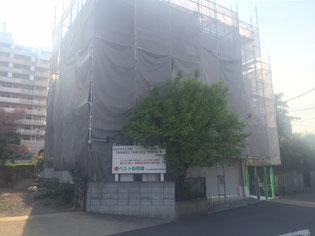 西東京市谷戸校外壁塗装風景
